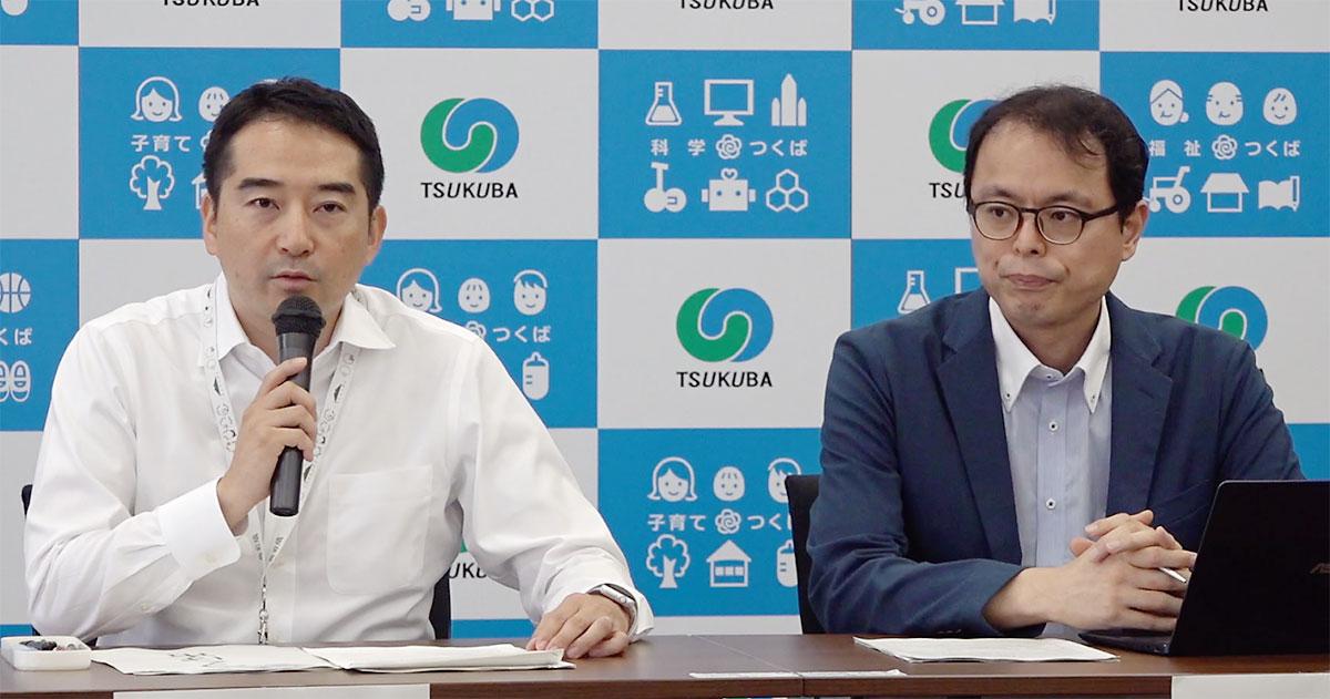 五十嵐つくば市長(左)とVOTE FOR代表 市ノ澤
